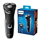 Philips Serie 000 S332/4 - Afeitadora Eléctrica Para Hombre Con Cuchillas Powercut, Cortapatillas Desplegable Para Bigote Y Patillas, 45 Min De...