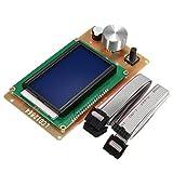 FYYONG Impresora 3D Adaptador del regulador Ajustable LCD de Pantalla Compatible with Las rampas 12864 1.4 Reprap