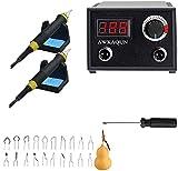 100W Máquina de pirografía, Temperatura Ajustable con 20 puntas de alambre de pirograbado,Máquina de Pirografía de Alambre de Soldadura para...
