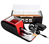 JeVx Maquina Liadora de Tabaco + 200 Tubos con Filtro OCB - Entubador Electrico para LLenado de Cigarros Entubar Cigarrillos de Fumar entubadora...