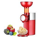 Maquina para Hacer Nieve y Helados en Casa Mini máquina de gelato de postre de yogurt congelado, fácil de limpiar con anti deslizamiento inferior,...