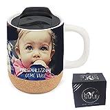 My Custom Style 4 tazas de viaje personalizadas de porcelana-corcho + cierre de 420 ml
