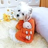MDKAZ Suéter de Invierno cálido para Perros Camisa con Cuello de Conejito en la Espalda para Mascotas Disfraz para Perros Lindo