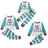 Small night light Pijamas de Navidad Familia Set Matching algodón Ropa de Dormir Pijamas Impresos Top Pantalones (Color : M, Size : Dad)
