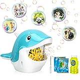 Gifort Maquina Burbujas para niños, soplador de Burbujas automático Cute Ballena Bubble Maker con solución de jabón para Juguetes Ideales para niños