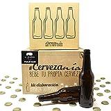 Pack completo para elaborar cerveza en casa   Kit Pale Ale y 16 Botellines con 100 chapas   Kit todo grano   Lúpulo fresco