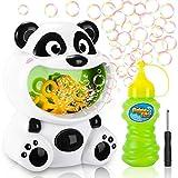 Gifort Maquina Burbujas Niños, Máquina de Burbujas Automática Portátil con Jabón Líquido 118 ml, Maquina Pompas Jabon de Panda para Niños Juguete de Baño Fiestas Bodas