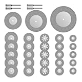 32piezas de corte con diamante de Dremel Rotary. Minihojas en forma de disco para sierra. 16/20/22/25/30/40/50/60mm. Herramientas para piedras...