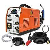 HITBOX 4 en 1Pulso Alumini Soldador de Hilo Digital Automática IGBT 250A 220V Soldador MIG 1/5KG Soldador Hilo Continuo Sin Gas Pantalla de Color...