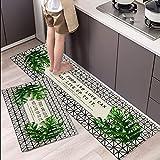 Alfombra de Cocina con Estampado de Hojas Tropicales, Alfombrilla Absorbente de baño para el hogar, Alfombrilla Antideslizante para Puerta de...