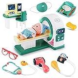 Sirecal Doctors Medical Play Set Toy - 11 Piezas Juego de Roles de Juego de Simulación de Médicos para Niños Tomografía Computarizada con Luz y...
