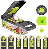 Cortador de verdura Food Chopper Slicer, cortador de alimentos, patatas, frutas y queso, cuchillas multifunción, picadora + 7 accesorios para cortar verduras